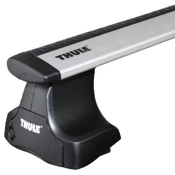 Thule Dachträger WingBar für Nissan Almera Fliessheck 03.2000 - jetzt Aluminium