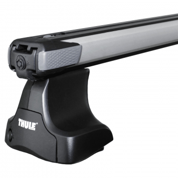 Thule Dachträger SlideBar für Daewoo Lanos Stufenheck 1997 - 2003 Aluminium