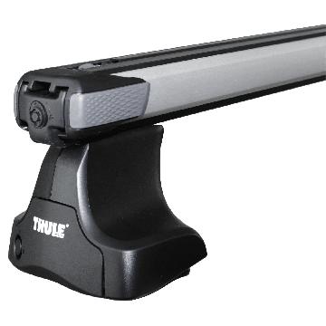 Thule Dachträger SlideBar für Mitsubishi Colt 05.2004 - 10.2008 Aluminium