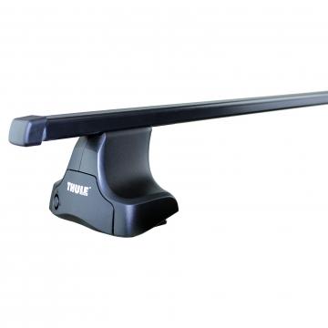 Thule Dachträger SquareBar für Chevrolet Kalos Fliessheck 2005 - jetzt Stahl