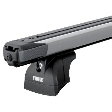Thule Dachträger SlideBar für Suzuki Baleno Fliessheck 04.2016 - jetzt Aluminium