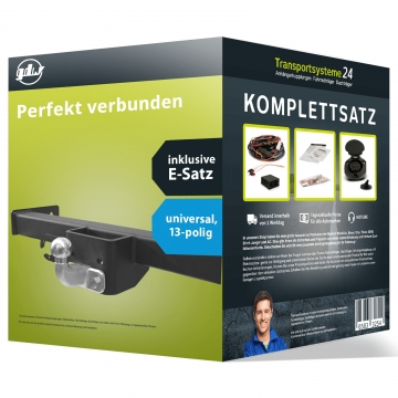 Anhängerkupplung + 13 pol. Elektrosatz Lada 2112 Fliessheck ( 2001 - jetzt )
