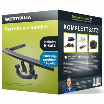 Anhängerkupplung + 13 pol. Elektrosatz Audi A1 (05.2010 - 09.2018)