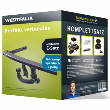Anhängerkupplung + 7 pol. Elektrosatz Audi A3 Stufenheck (4-Türer) ( 06.2014 - 06.2016 )