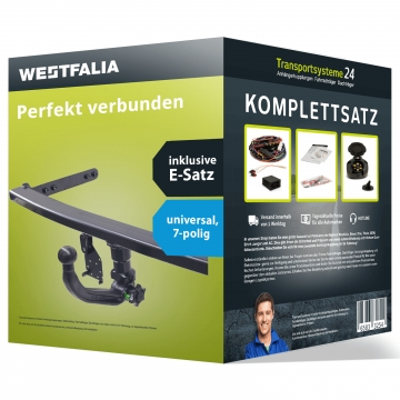 Anhängerkupplung + 7 pol. Elektrosatz Kia Cee'd Fliessheck ( 12.2006 - 09.2009 )