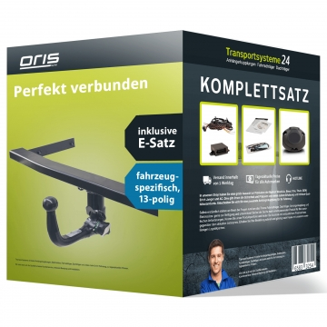 Anhängerkupplung + 13 pol. Elektrosatz Ford Fiesta Fliessheck (10.2008 - 12.2012)