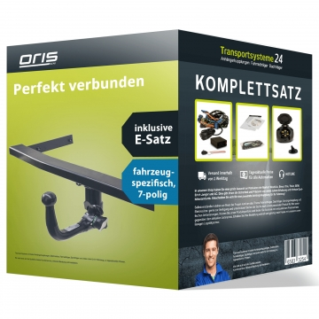 Anhängerkupplung + 7 pol. Elektrosatz Seat Leon ( 11.2012 - 05.2014 )