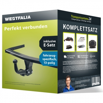 Anhängerkupplung + 13 pol. Elektrosatz VW Polo Fliessheck ( 06.2009 - 03.2014 )