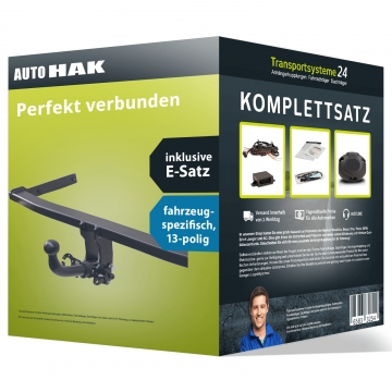 Anhängerkupplung + 13 pol. Elektrosatz Dacia Dokker ( 08.2012 - jetzt )