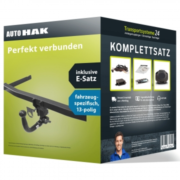 Anhängerkupplung + 13 pol. Elektrosatz Fiat 500L Fließheck ( 09.2012 - jetzt )