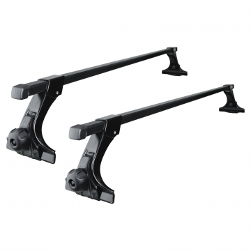 Thule Dachträger SquareBar für Toyota Corolla Stufenheck 05.1992 - 06.1997 Stahl