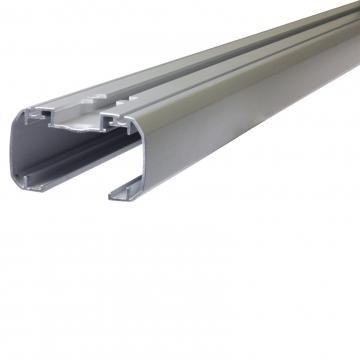 Thule Dachträger SlideBar für Nissan Tiida Fliessheck 09.2007 - jetzt Aluminium