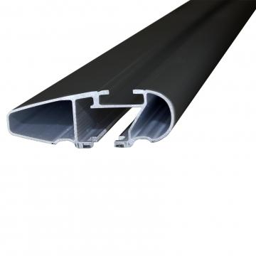 Thule Dachträger WingBar Edge für Peugeot 407 Stufenheck 10.2004 - jetzt Aluminium
