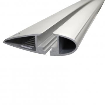 Yakima Dachträger Through für Peugeot 208 Fliessheck 03.2012 - jetzt Aluminium