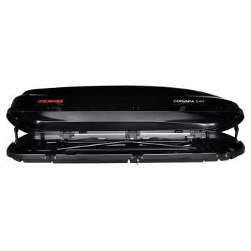 Kamei Dachbox Corvara S 475 schwarz glänzend